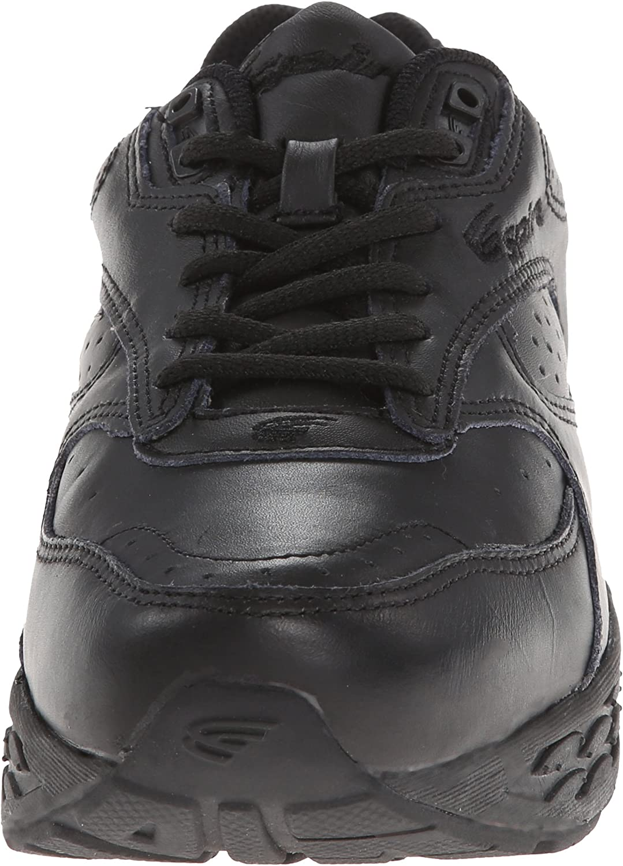 Spira Men's Classic Leather Walking Shoe Black/Black