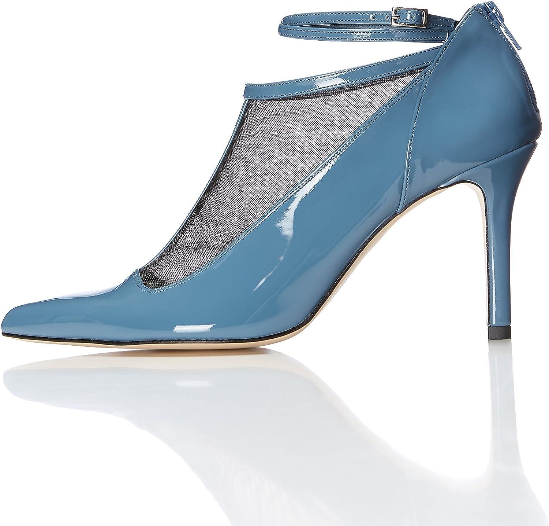 find. Zapatos Estilo Mary Jane de Charol para Mujer, Azul (Blue), 37 EU