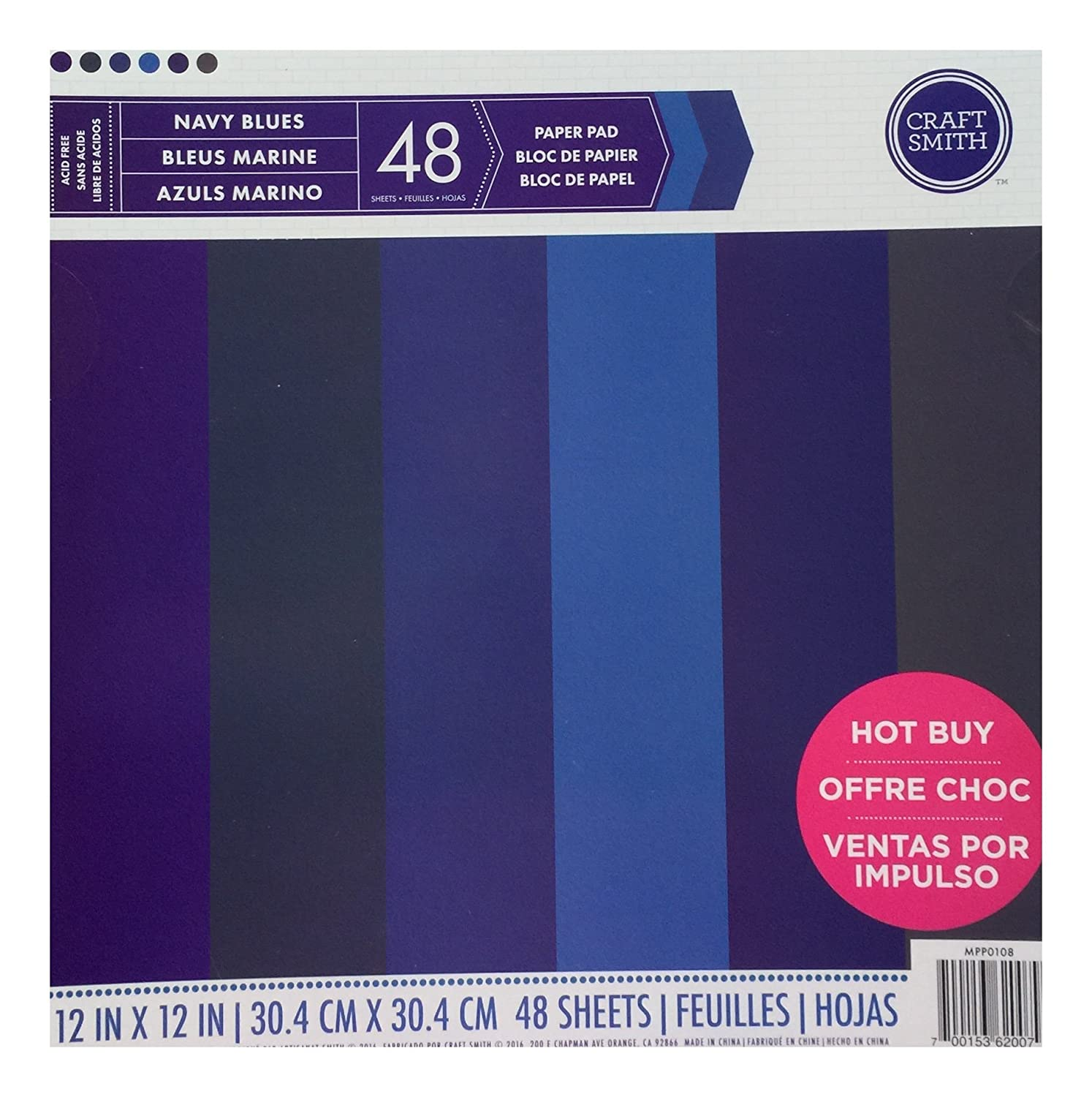Craft Smith Paper Pad 12X12 NAVY BLUES by Craft Smith B01B1YYCNY