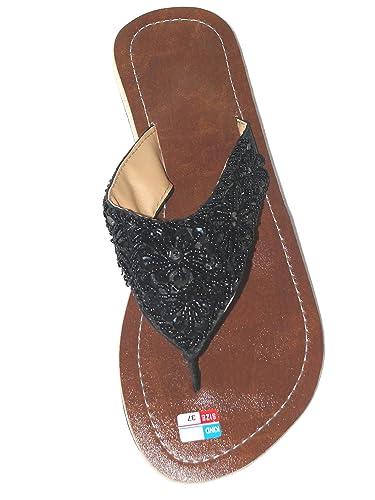 Damen Flip Sandale Star Zehentrenner Zehenpantolette hCW3t