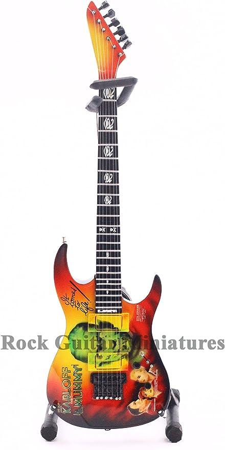 RGM126 Metallica Kirk Hammett Mummy Mini Guitarra Guitarra Roca ...