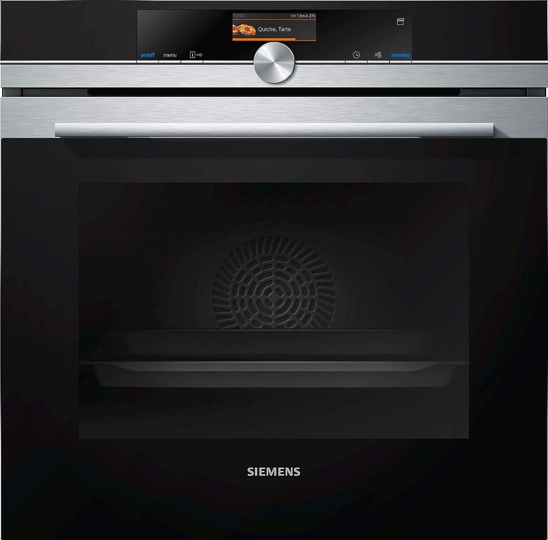 Siemens HS636GDS2 iQ700 Horno de vapor/A+ / Puerta SoftMove/Termómetro de cocina Plus/Aire Hißluft 4D / Iluminación LED/Pantalla TFT/Acero inoxidable [Clase de eficiencia energética A+]