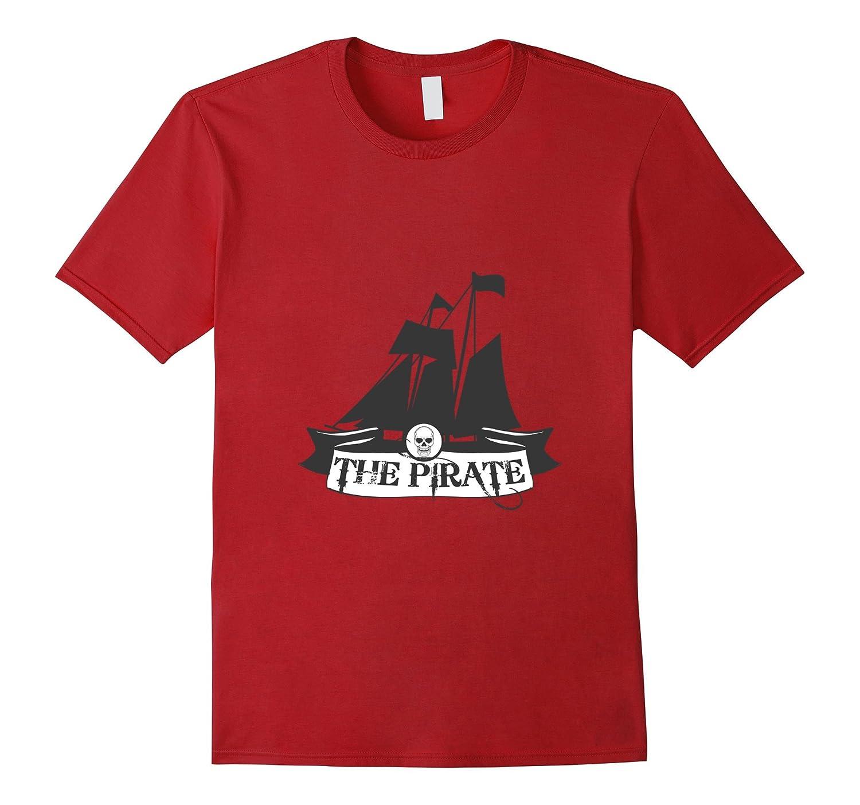 Black Model Pirate Ship T Shirt for the Vintage Men & Women-BN