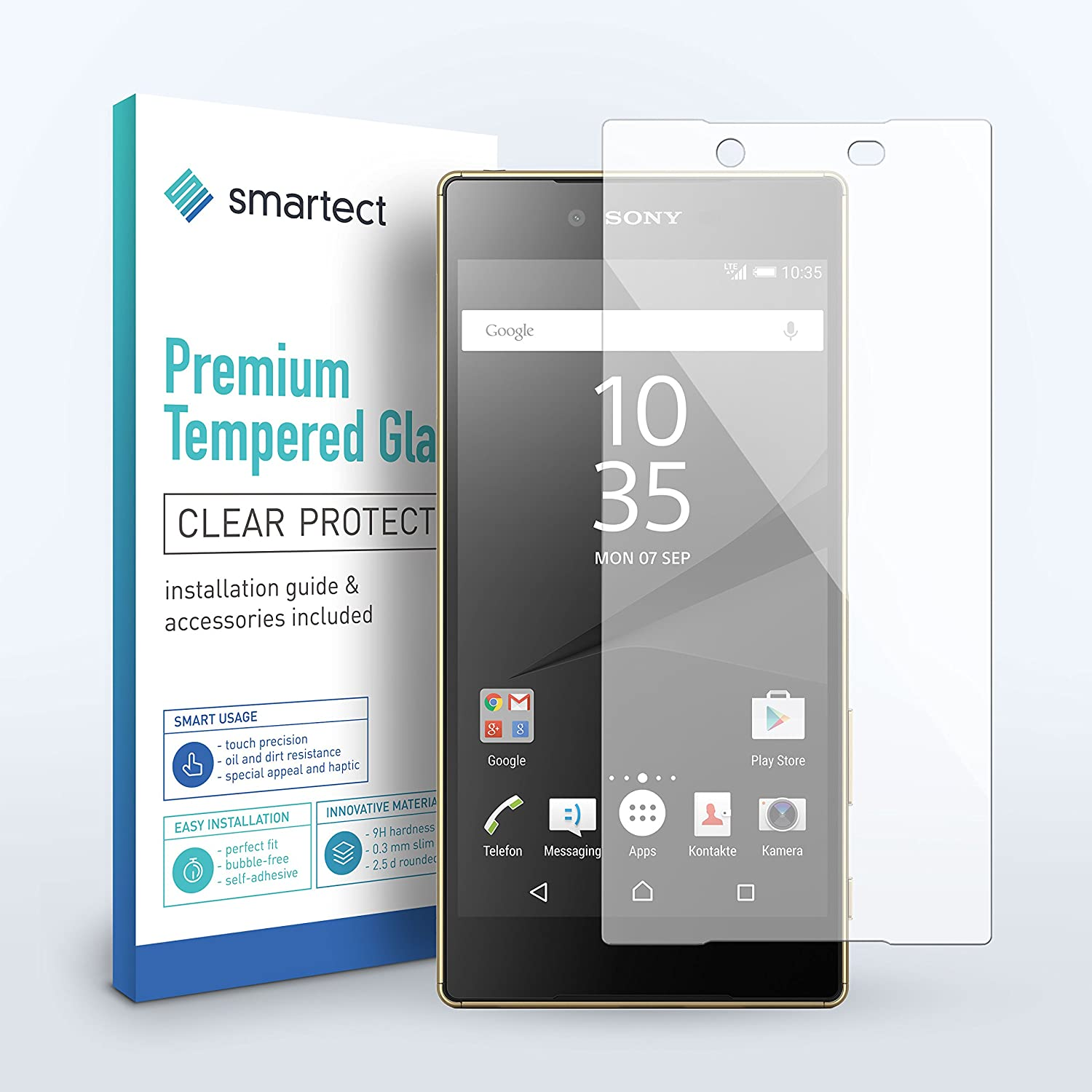 SmarTect [FRONT BACK] Glass Screen Protector for Sony Xperia Z5 Premium by 0 3