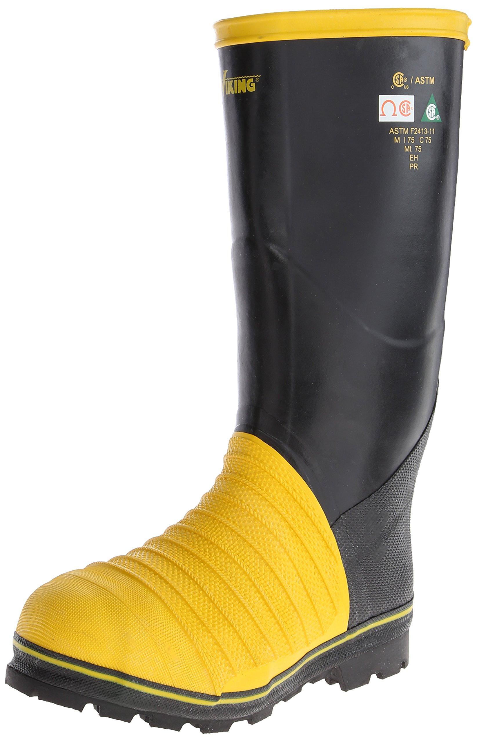 Viking Footwear Miner 49er Tall Waterproof Boot,Black/Yellow,11 M US by Viking Footwear