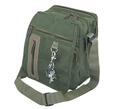 70459761aad2f NISUN Sling cross body messenger one side shoulder bag for men women 9x  6.5x 10inch Olive  Amazon.in  Shoes   Handbags