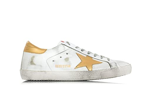 Goose Sneakers Scarpe Leather Low 44 Golden 'superstar' Uomo T1wdffq