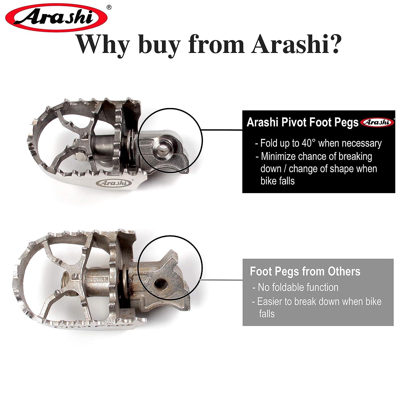 Arashi Footrest Protector FootPegs Heel Plates Guard For BMW R1200GS 2013-2017