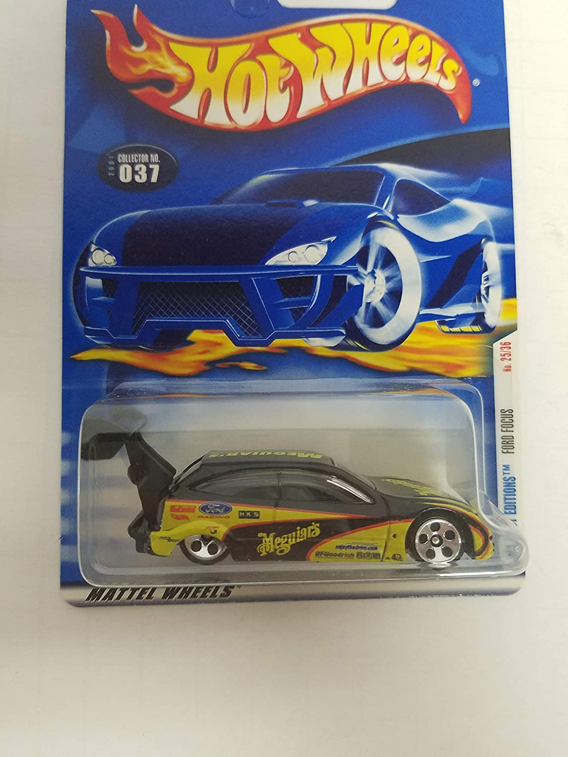Ford Focus Hot Wheels 2001 First Editions diecast 1/64 scale car No. 037
