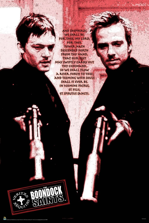 Scorpio The Boondock Saints Red Poem Poster Print