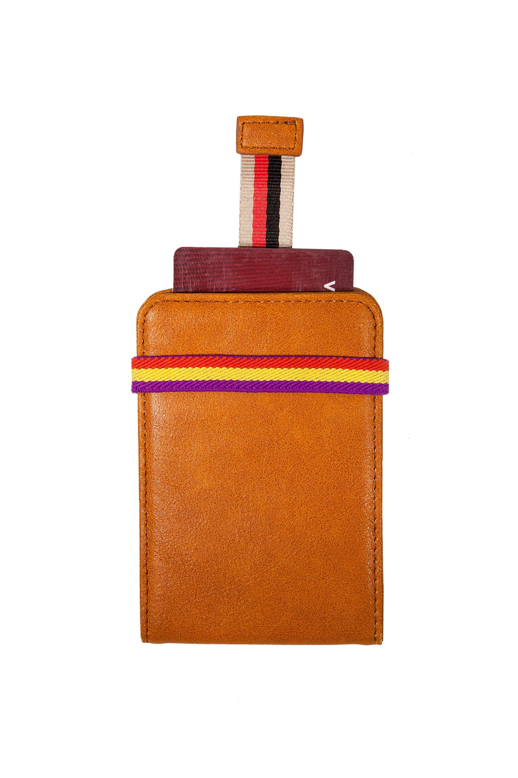 Azzimato - Minimalist Front Pocket Men's Card Holder Slim Wallet - Gift Box Included