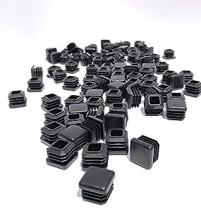 3/4 Inch Square Tubing End Cap 100PK (14-20 Gauge Wall Tubing) Plastic Plugs/Square End Caps/Plastic End Caps/Square Plug/Square Plastic Plug/by EZENDS … (100)