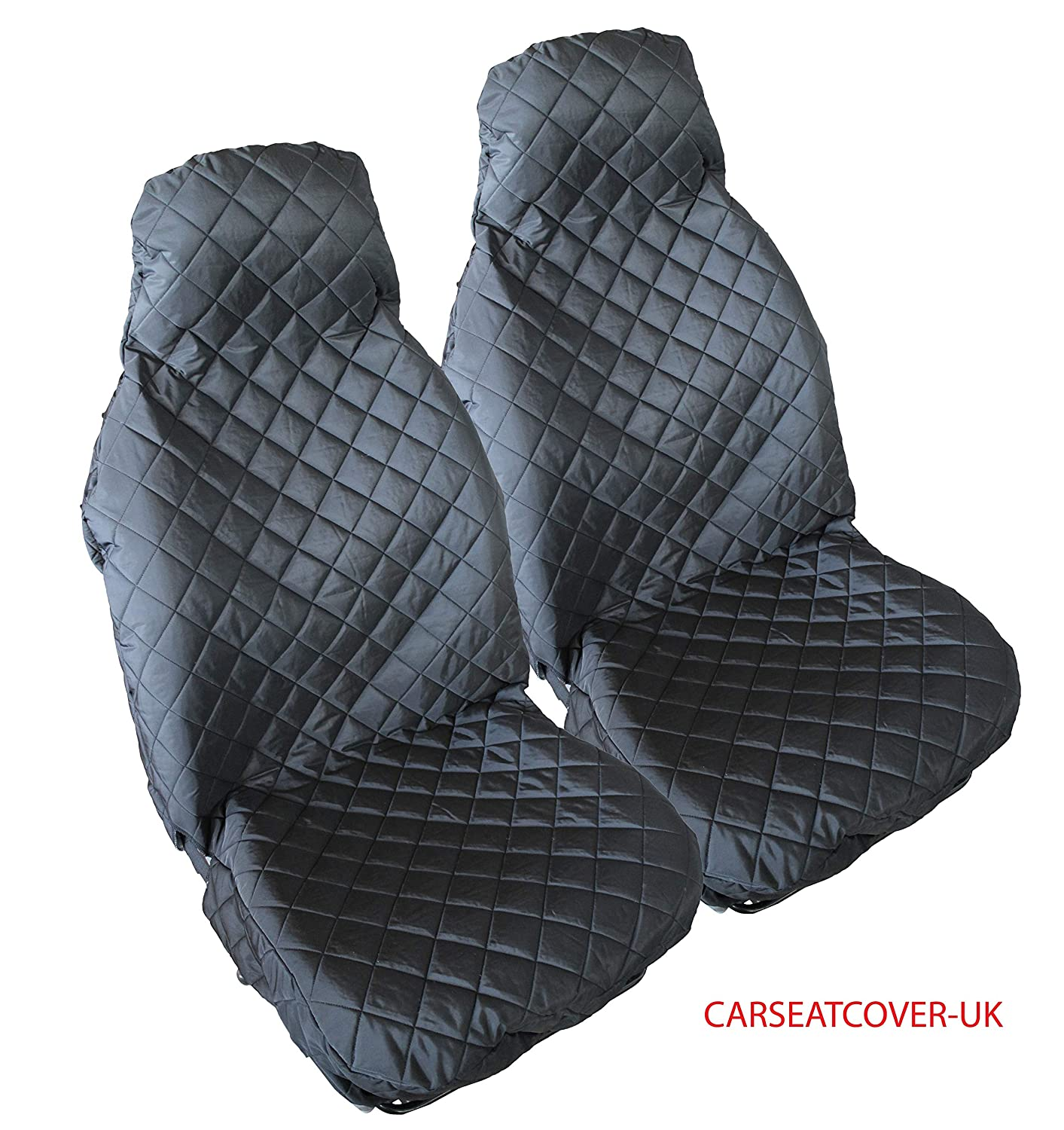 2 x Fronts Carseatcover-UK/® Super-Luxury Quilted PADDED Water Resistant Universal Seat COVERS Protectors