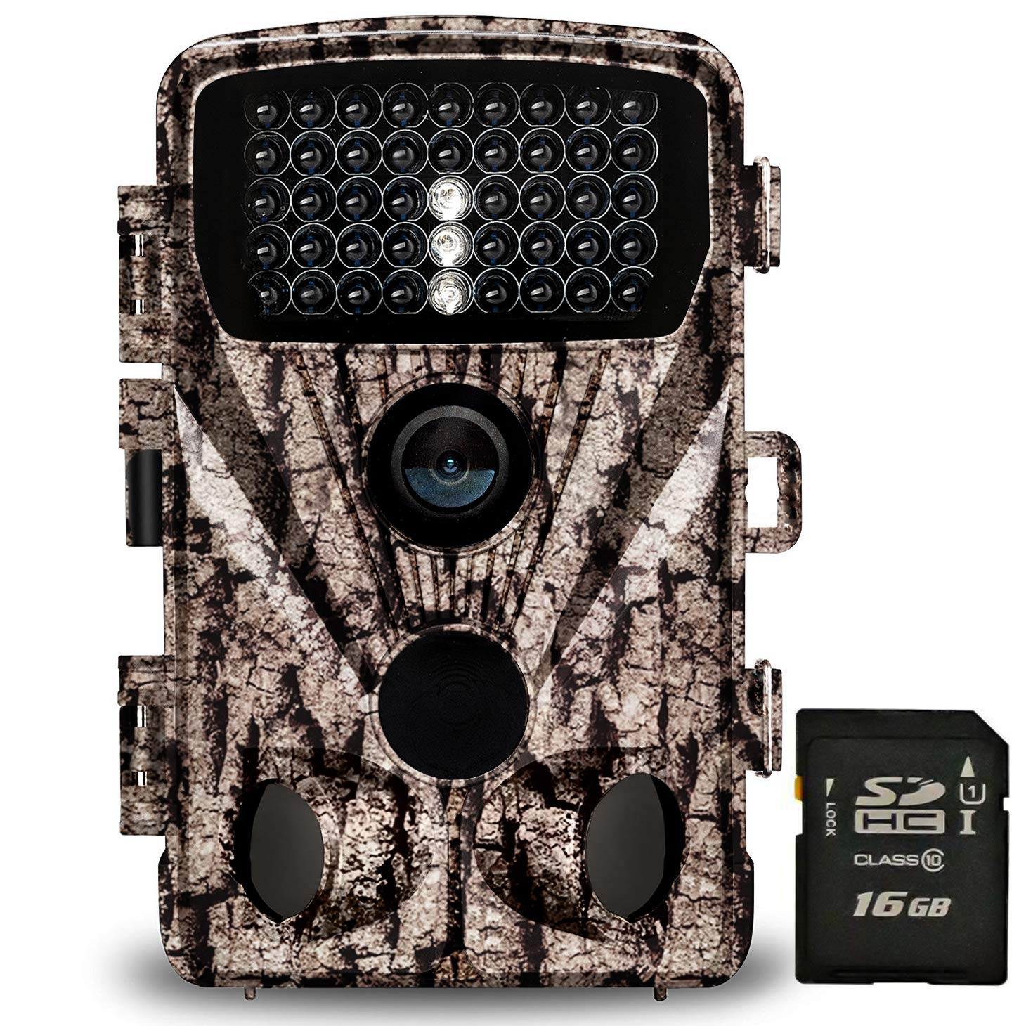 Foxelli Trail Camera - 20MP 1080P HD Wildlife Scouting Hunting Camera with Motion Activated Night Vision, 120° Wide Angle Lens, 42 IR LEDs & 2.4'' LCD screen, IP66 Waterproof Game Camera, SD card incl. by Foxelli