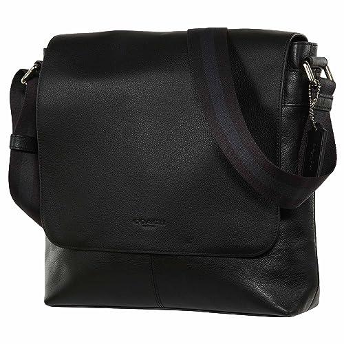 a6911b1719e70 COACH Mens Leather Hand shoulder bag F28576 (Black): Amazon.co.uk ...