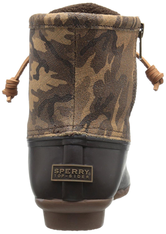 Sperry Top-Sider Women's Saltwater Rope Emboss Neoprene Rain Boot B00QW7H7OC 5 B(M) US|Brown Camo