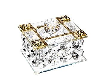 Amazoncom Italian Crystal Jewelry Box 18kt Gold Plated Made of