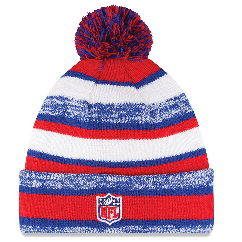 pretty nice f1bc1 c8eeb ... free shipping amazon new era on field sport knit buffalo bills game hat  red white blue