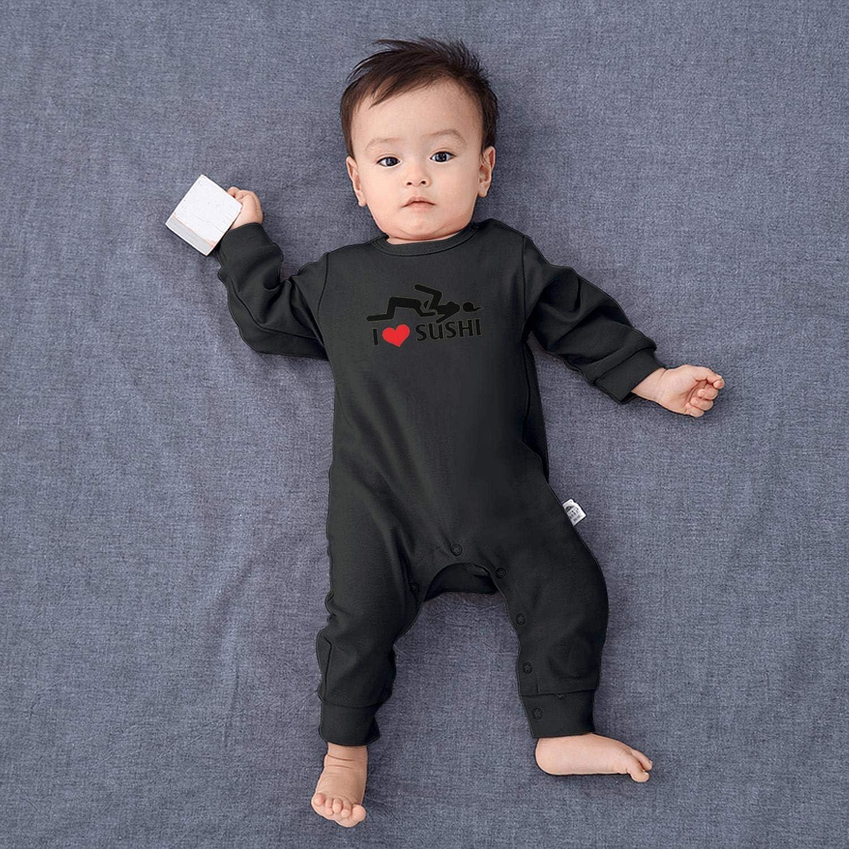Sushi Pop L Love Shushi Baby Boys Girls Long Sleeve Baby Onesie Bodysuit