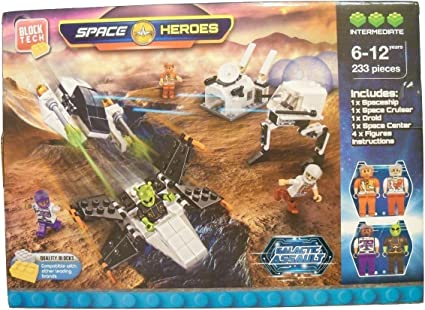 Block Tech Space Heroes Galactic  233 Pieces Compatible with Lego 6-12 Years