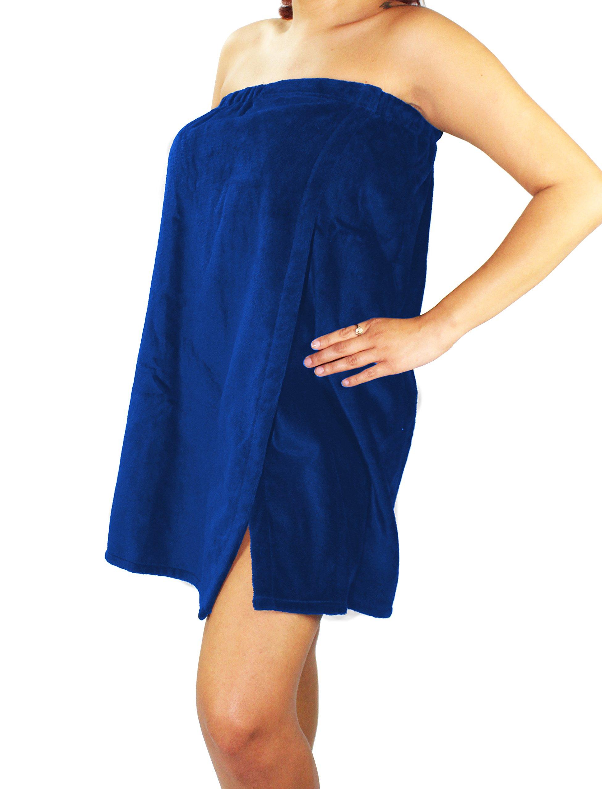 Sanders Classics 25'' Terry Towel Wrap - Royal Blue