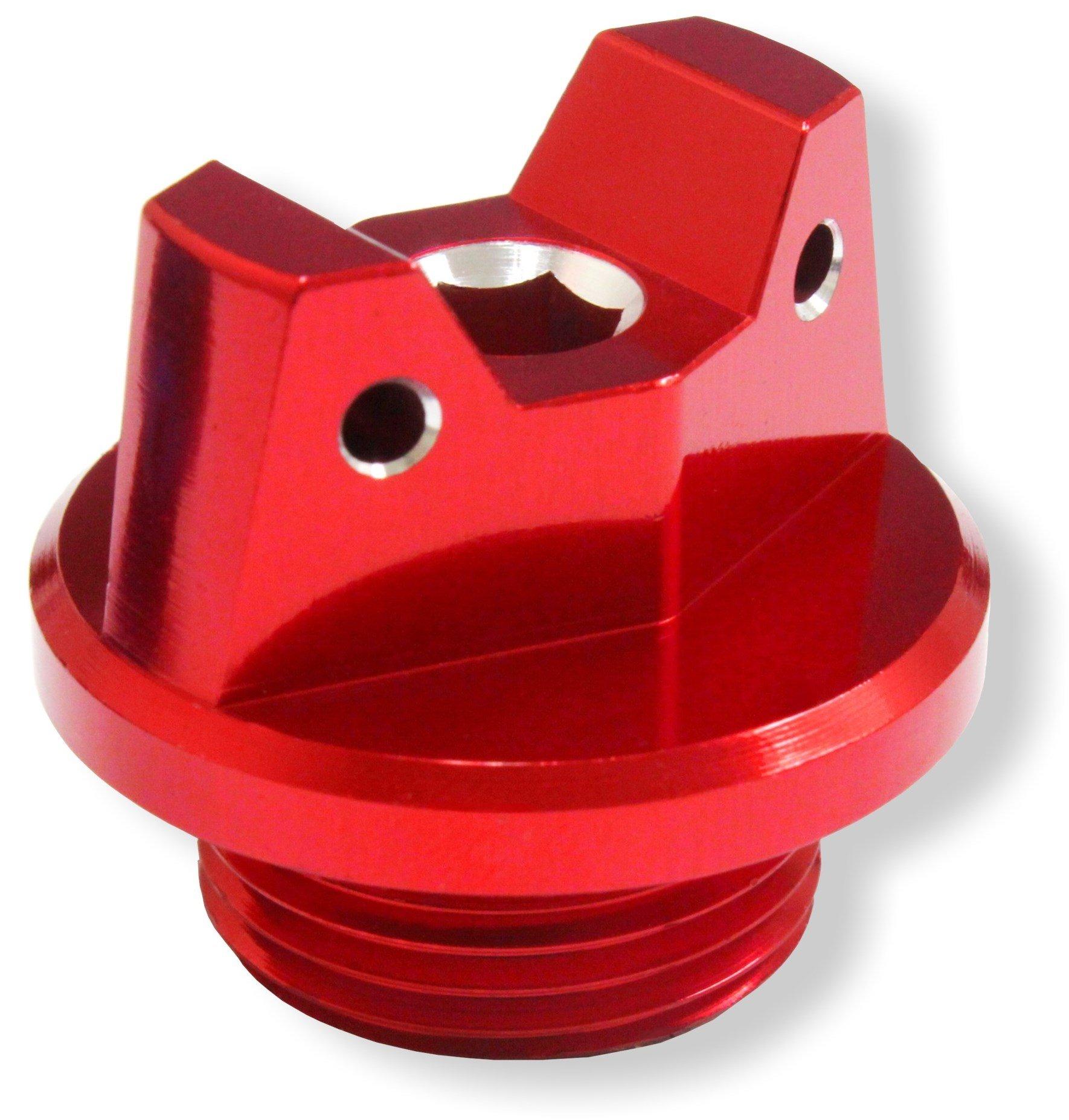 MotoSculpt Oil Fill Cap Plug (RED) for Suzuki GSX-R GSXR 600 750 1000 1100 1300 SV650 SV1000 TL1000