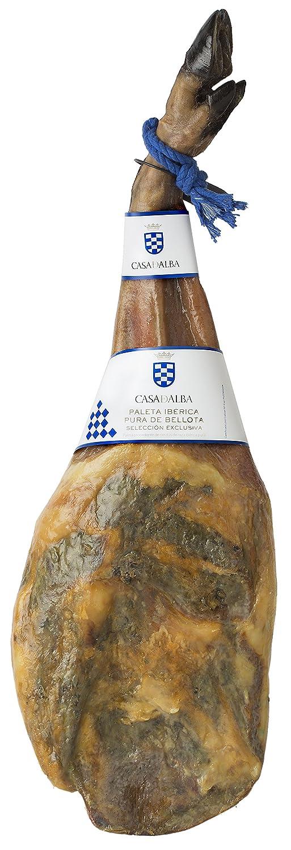 Paleta Ibérica 100% Pura De Bellota Entera Casa De Alba 5-5.5 KG: Amazon.es: Alimentación y bebidas