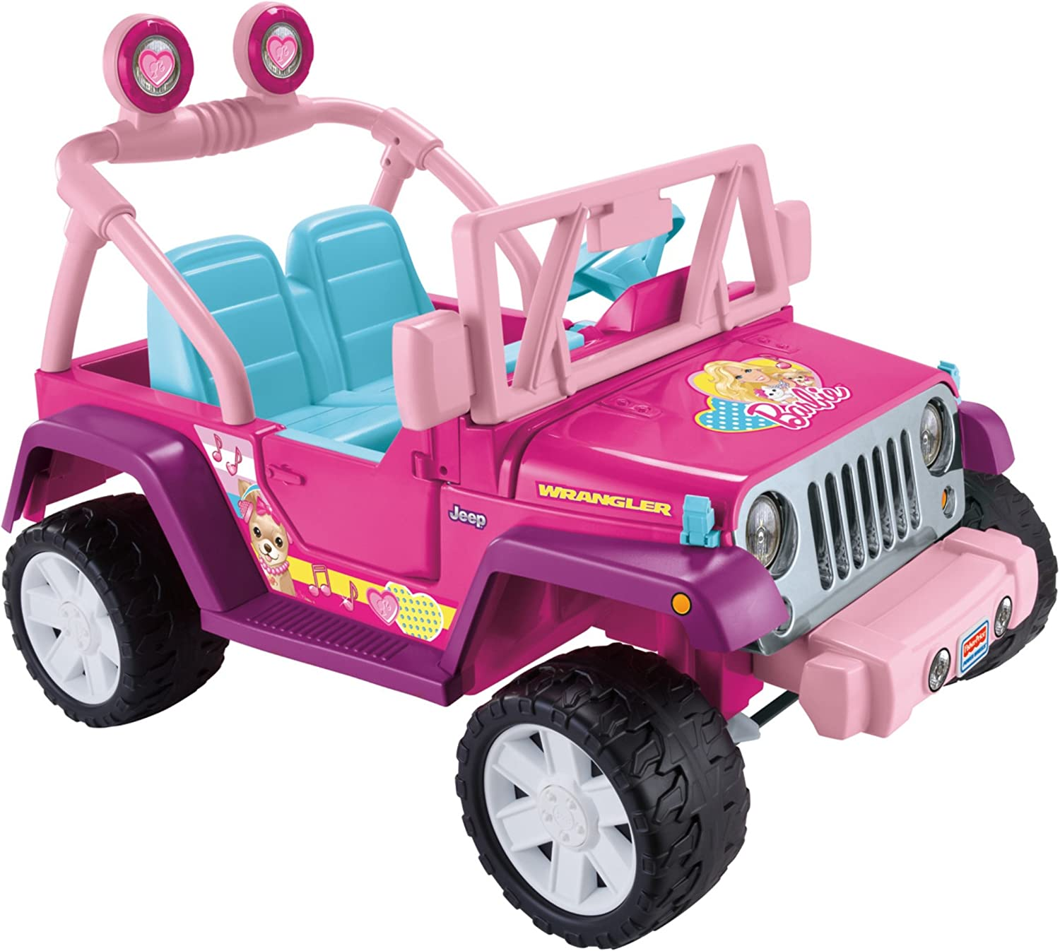 Amazon Com Jeep Wrangler Jammin Power Wheels Barbie Toys Games