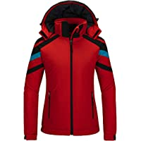 Wantdo Women's Waterproof Ski Jacket Warm Winter Snow Coat Windbreaker with Detachble Hood