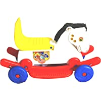 Poshtots Rider Horse 2-In-1 Rocker Cum Ride-On Toy For Kids - (Multi-Color)