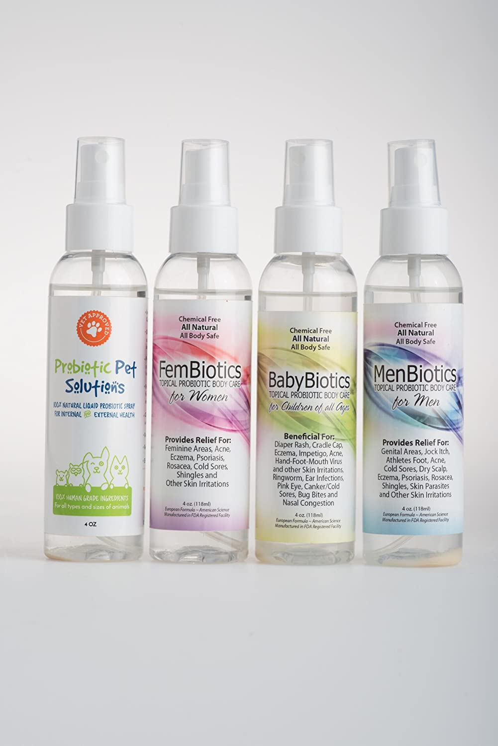 Smart-n-Healthy Probiotic Body Care Probiótico Pet Solutions - todo Natural Spray de probióticos para uso interno y externo para todos los animales: ...