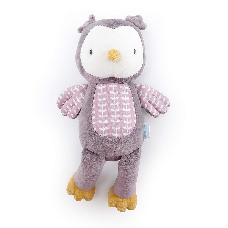Ingenuity Premium Soft Plush Stuffed Animal Toy - Nally The Owl, Ages Newborn + (12385)