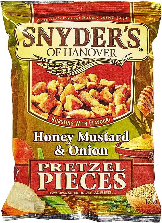 Amazon.com: Snyders Honey Mustard Onion Pretzel Pieces 125g: Home & Kitchen