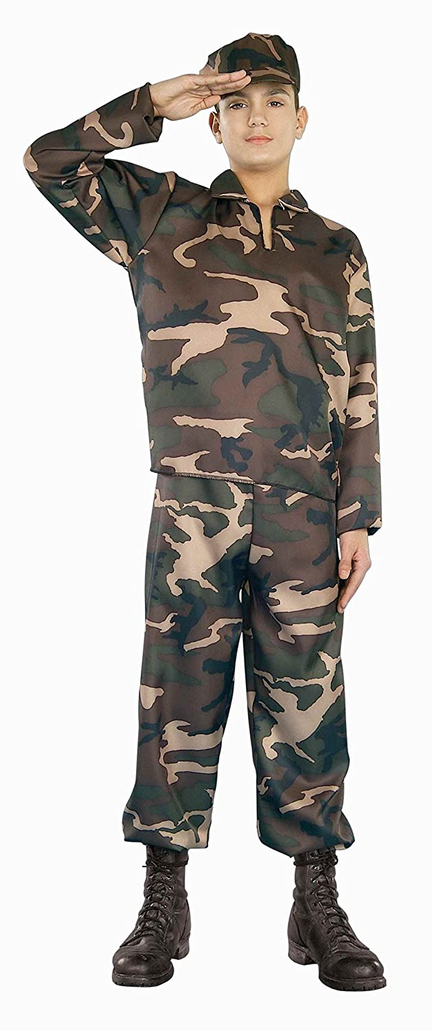 amazoncom forum novelties army soldier teen costume toys games - Halloween Army Costumes