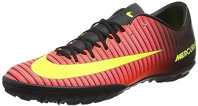 Nike Mens Mercurial Victory VI Turf Soccer Shoes (9) Crimson Black 10836bc256730