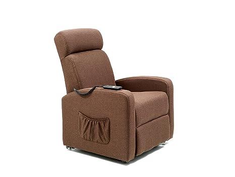 My living marta poltrona relax elettrica marrone: amazon.it: casa e