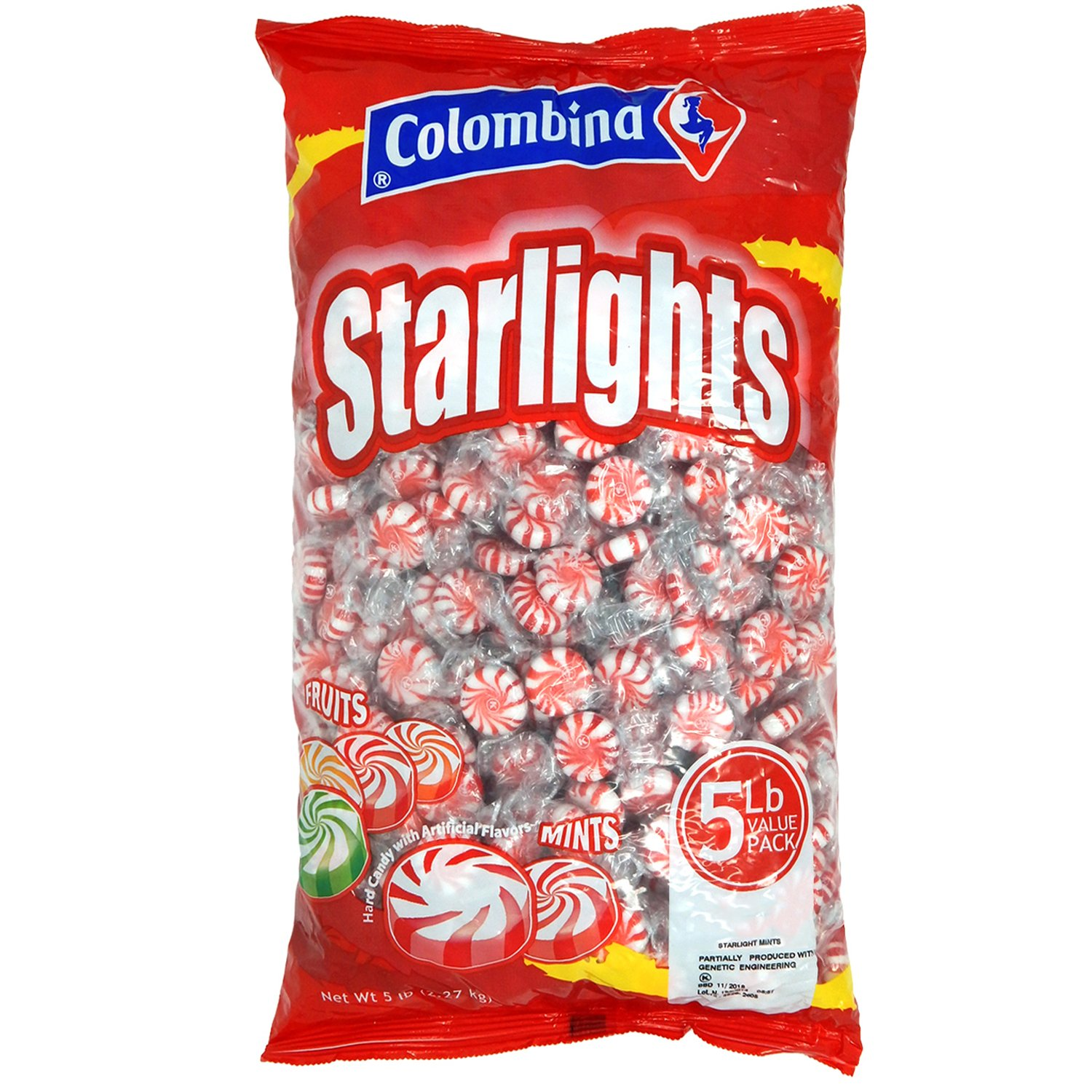 Nosh Pack Peppermint Starlight Mints Individually Wrapped Candy 5 Pounds Approx. 400 Mints by NOSH PACK