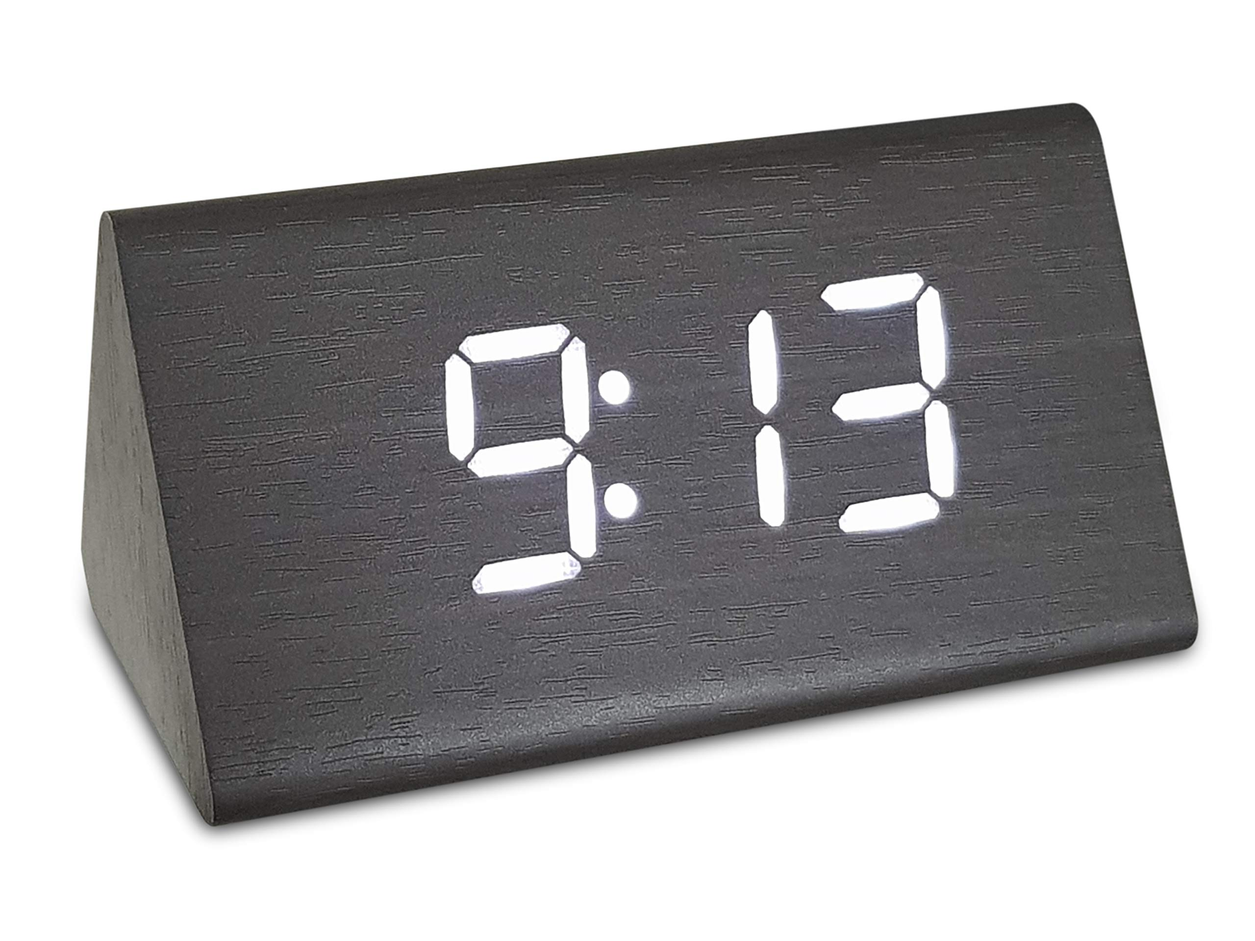 Loud Alarm ON//Off Switch No Bells Digital Travel Alarm Clock Simple Basic Operation 2 AAA Battery Powered Snooze No Whistles White Small and Light