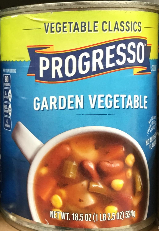 Progresso Soup GARDEN VEGETABLE Vegetable Classics 18.5oz (3 Cans)