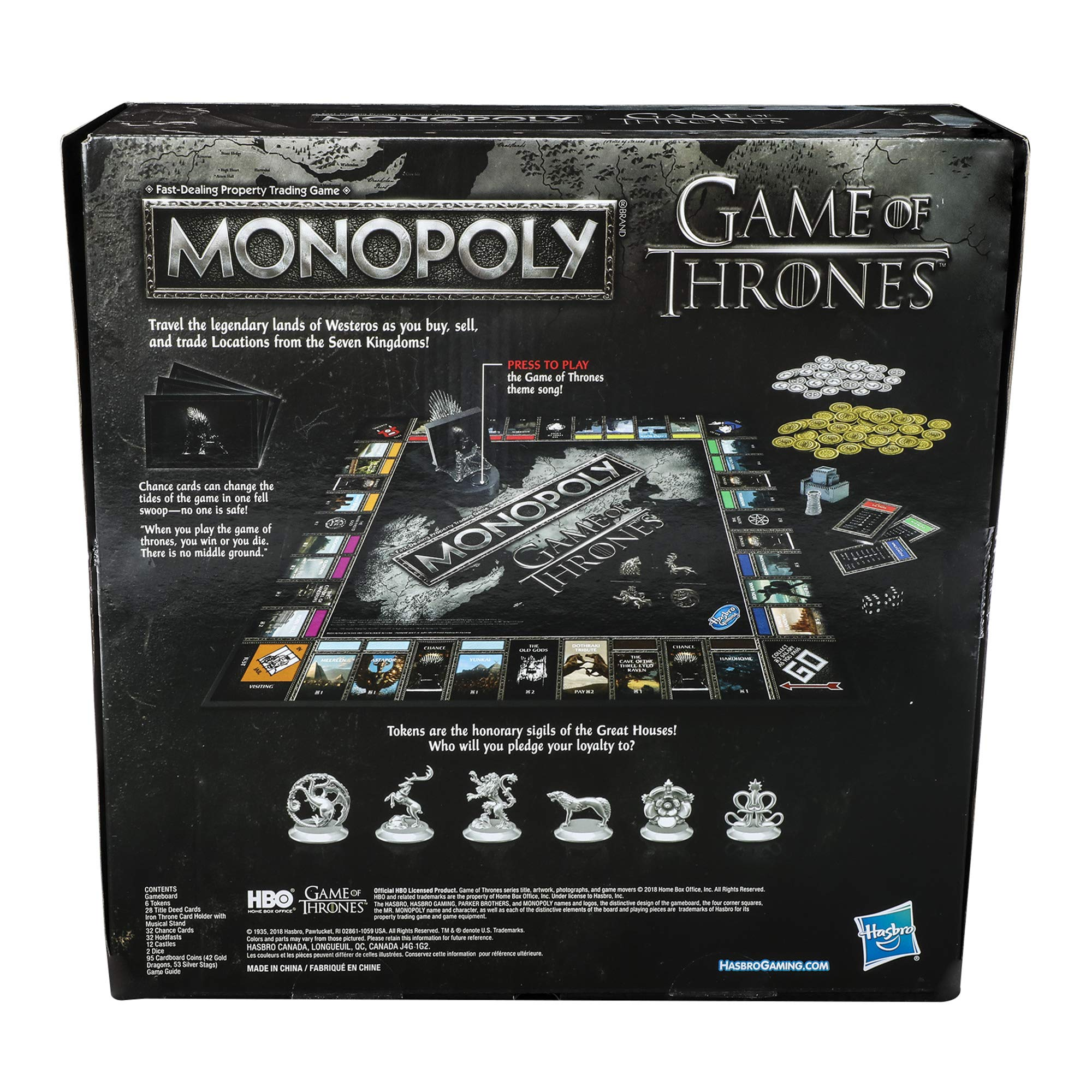 Monopoly Game of Thrones Board Game for Adults by Monopoly (Image #3)