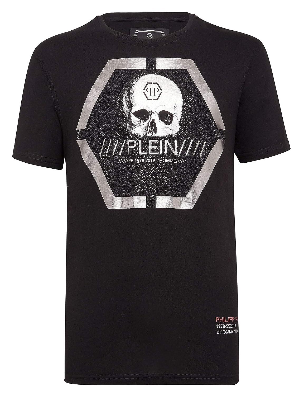 Philipp Plein - Camiseta - para Hombre Negro XL: Amazon.es: Ropa y ...