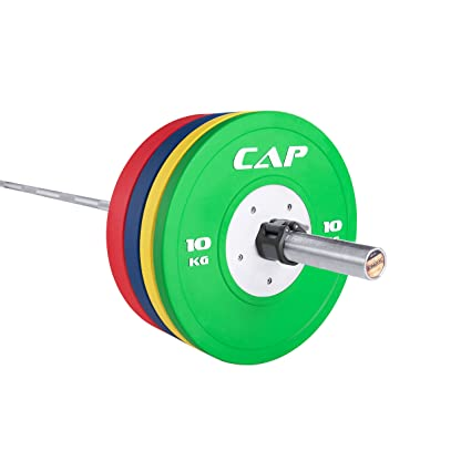d6757cc8371 CAP Barbell Olympic Weight Plates Sets (160kg Set with Competition Bumper  Plate)