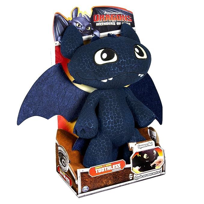 Spin Master 6020113 - Dragón de Peluche, diseño de Desdentado de Cómo Entrenar a tu dragón de DreamWorks