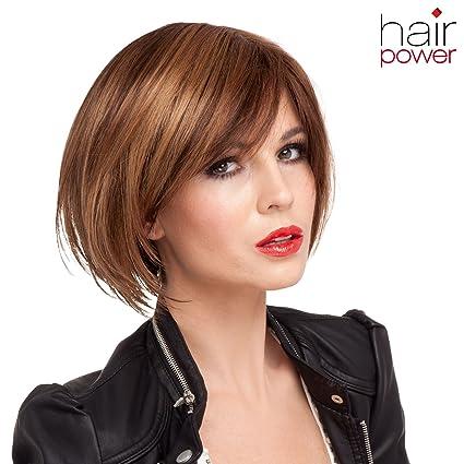 Fresh para mujer de la peluca bob, sintético, de peluche, accesorios de peluquería