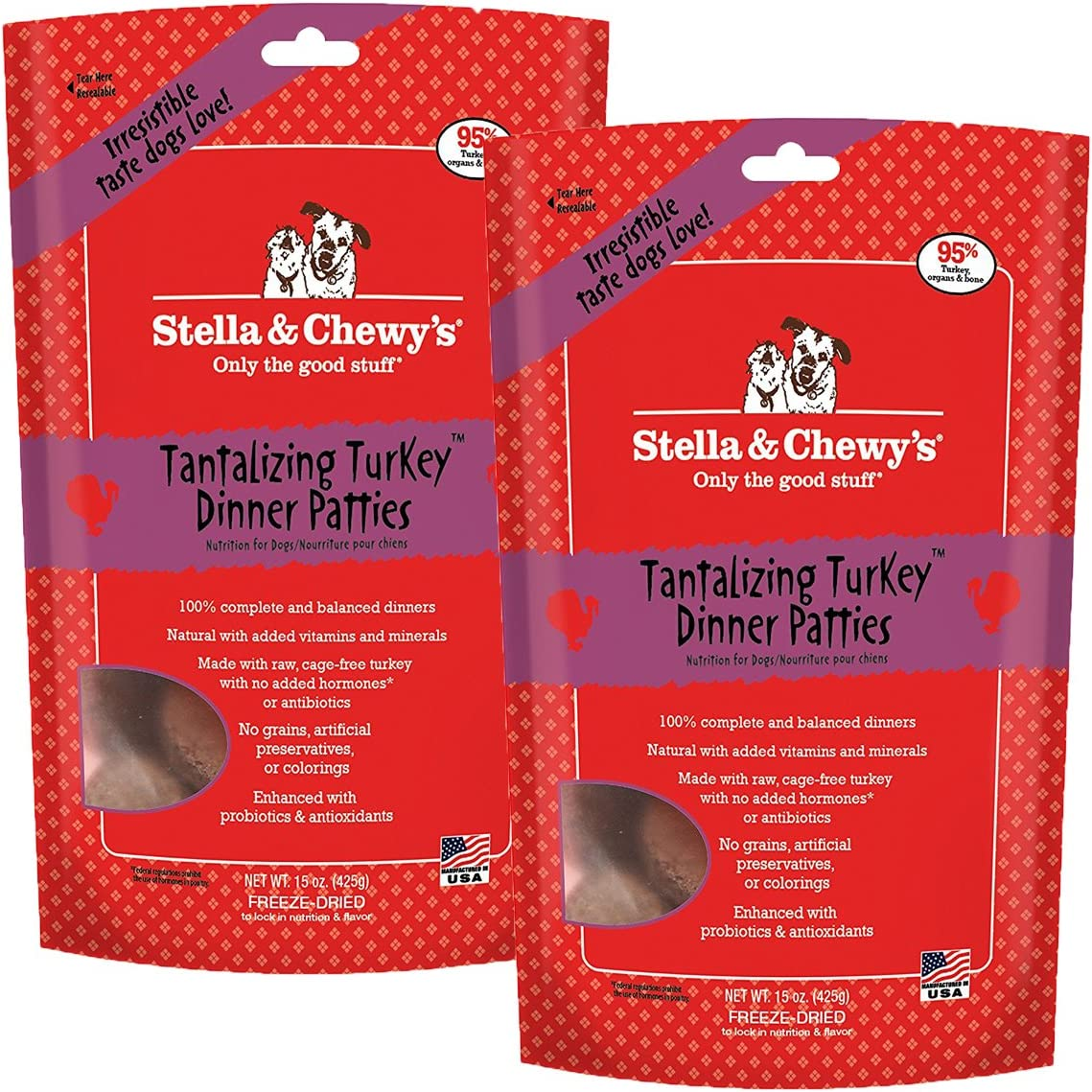 Stella & Chewy's Freeze-Dried Dog Food, Turkey, 30-Ounce