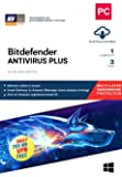 BitDefender Antivirus Plus Latest Version with Ransomware Protection (Windows) - 1 User, 3 Years (Email Delivery in 2 Hours - No CD)