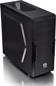 Thermaltake Versa H22 Black ATX Mid Tower Perforated Metal Front and Top Panel Gaming Computer Case 2.0 Edition with One 120mm Rear Fan Pre-Installed CA-1B3-00M1NN-A0
