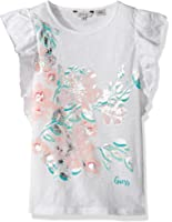 GUESS Big Girls' Short Sleeve Floral Flutter T-Shirt