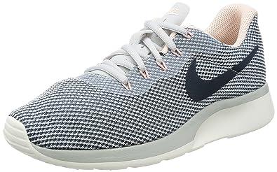 newest f2efc 3e70b Nike Women s Tanjun Racer Pure Platinum Armory Navy Running Shoe 10 Women US