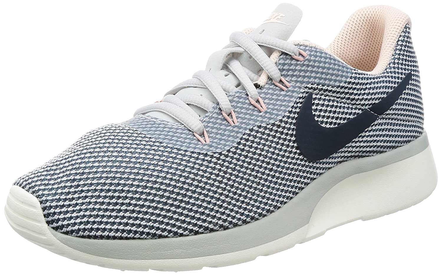 preview of buying now great quality Nike Women's Tanjun Racer Running Shoe Pure Platinum/Armory Navy-Armory  Blue 10